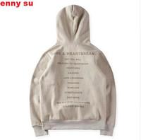 Wholesale Cool new hip hop newest men unisex kanye west s heartbreak pullover hoodie