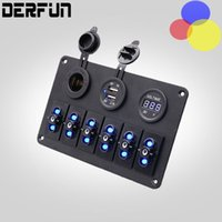 Wholesale Top Quality Gang Waterproof Car Auto Boat Marine LED Rocker Switch Panel Circuit Breakers