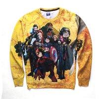 achat en gros de jean jaune pour les garçons-Cartoon Sweatshirts Hommes Automne Streetwear Hip Hop Vêtements Skinny Jeans Garçons Mâle Funky Sweat Sweat Sweatshirt Jaune