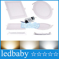 Wholesale 9W W W W W CREE LED Panel lights Recessed lamp Round Square Warm Pure Cool White Led lights for indoor lights