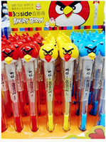 Wholesale set students gift angry bird Pens Pencils Child Kids gift School Supplies Stationery wood pencil