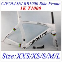 Wholesale Best Selling Cipollini RB1000 Carbon Bike Frame K T1000 Full Carbon Glossy Matt Finish With BB30 White Color Bike Parts