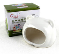 Wholesale New Arrival Small Pet Supplies Ceramics Hamster House Cooling Cage Accessories Little Rat Mice Hideout