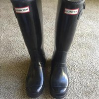 Wholesale Factory Outlets Top Quality Rainboots Hunter Wellies Boots over knee women shoes boots Glossy matte size hunters