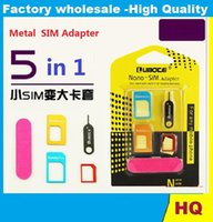 Wholesale 10pcs SIM Card Sets Aluminum Alloy Phone Metal Cato Nano Sim Restore Card Sets Small Card Turn Kcal In Universal Holder Slot Stick Device
