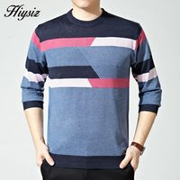 Wholesale Top Quality O Neck Pullover Men Wool Sweaters Striped Pull Homme Autumn Cashmere Sweater Brand Clothing
