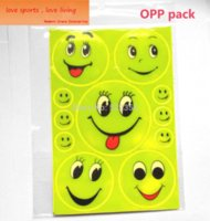 bicycle stories - 1 Sheet x13CM Reflective safety sticker smile face for motorcycle bicycle kids toy any where for visible safety toy story plush toys