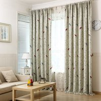 Wholesale 200 cm Pastoral Style Birds Window Curtains For Living Room Kitchen Bedroom Blackout Curtain Voile Cortina Para Quarto
