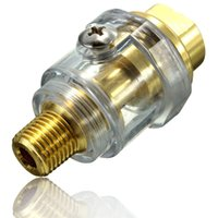 Wholesale 1 Inch Gold Color BSP Lubrication Copper Mini Air Compressor Oil Pneumatic Automatic For Air Tools Length mm