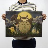 b movie posters - Totoro b classic Cartoon movie Comic kraft paper bar poster Retro Poster decorative painting x35 cm