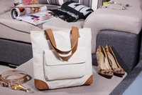 arrival reusable bags - New Arrival Women Men Foldable Shopping Bag Canvas Cotton eco bag Reusable Shopping Bag Grocery Tote Bag
