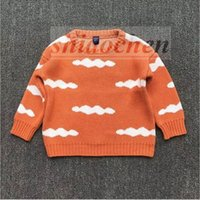 Wholesale Kids Ins Sweater Fashion Cardigan Crochet Knitwear Ins Knit Coat Pullovers Ins Warm Jacket Outerwear Outwear Baby Ins Jumper Tops A1090