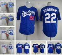 angeles green - Top Men Los Angeles Dodgers Cheap Baseball jerseys Yasiel Puig jerseys baseball Jackie Robinson Clayton Kershaw blue gray white