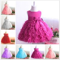 Wholesale 2016 New Superimposed Flower Girl Dress Skirt Sleeveless Wedding Dress Dress Skirt Children Girl Birthday Ball Gowns