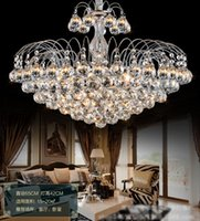 Wholesale Luxury Crystal chandeliers contemporary ceiling lamp E14 led glass lights Chandelier Hanging LED Pendant Lamp Bedroom decoration Dining room