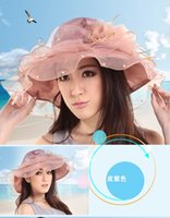 Wholesale Wedding Bridal Dress Girls Lady Kentucky Derby Church Party Hat Summer
