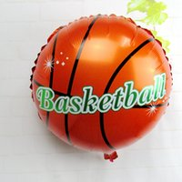 basketball party decorations - 18inch Basketball Foil Balloons inflatable helium balloon Children Classic Toys happy birthday Party Decoration air balloons