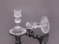 Wholesale cm European crystal glass candle holder pineapple creative romantic candlelight dinner wedding Decor