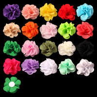 artifcial flower - 120pcs quot Colors Newborn Soft Chic Chiffon Flower For Baby Girl Hair Accessories Artifcial Fabric Flowers For Headbands