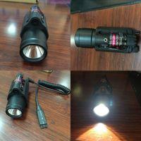 Wholesale Tactical Red Laser Sight LED Flash Light Combo Rifle Shotgun mm Rail Mount