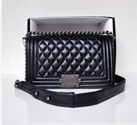 Wholesale TOP Quality Women s Classic Designer Boy Flap Bag Famous Brand Quilted Chain Lambskin Caviar Leather with Flaps Quilted Chain Handbag