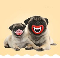 Wholesale The Halloween toys Funny pet dog love toy Vinyl PVC Squeak puppy toys for dogs cats Pig Nose Devil s lip styles