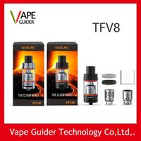 Wholesale Smok TFV8 Tank ml TFV8 Cloud Beast Tank TFV8 Atomizer With V8 T8 V8 Q4 Coil Head Best Updated TFV4 Fit