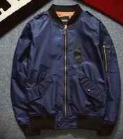 Wholesale 2016 New Spring Ma1 Bomber Jacket Men Casual Long Sleeve Black Pilot Jacket