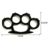 Wholesale Flat Edge Knuckle Dusters Brass Knuckles Weapon Buckle Self Defense Keychain Survive Hammer Brass Knuckles Weapon Buckle Self Defense Finger