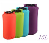 Wholesale 15L Colors Dry Bag Sack Waterproof Bags Drifting Storage Outdoor Travel Bag For Boating Fishing Rafting Swimming Camping