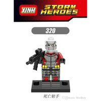 avengers movie villain - XH Building Blocks Sets Super Heroes Avengers Deadshot Villain Minifigures Suicide Squad Movie Model Minifigures Blocks Mini Figures Toy