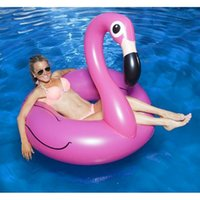 riding toys - Hot Summer Pool Toy Inflatable Flamingo Water Float Mount For Adult Kids Ride On Pool Toy Inflatable Swim Ring DHL Freeshipping