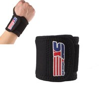 Wholesale SX503 Sports Elastic Stretchy Wrist Joint Brace Support Wrap Band Thumb Loop Gym Strap Safety Black