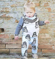 baby boy suit jacket - New Spring Baby Clothing Sets PC suits boy penguin Long sleeve Jacket pants Baby boys girls Tracksuits