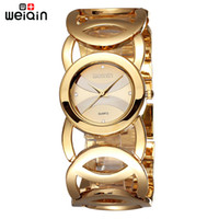 Wholesale Hot Sale Weiqin Brand Gold Plated Stainless Steel Fashion Bracelet Janpan Quartz Women Wrist Watches Luxury Waterproof Relogio Feminino