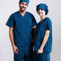 Wholesale Hospital medical scrubs set medical uniform clothing for unisex surgical clothing for classic V neck with comfortable
