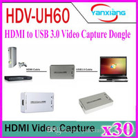 Wholesale 30pcs HDMI to USB P Video and Audio Capture Device Video Game Recorder Compatible with Win7 Mac Linux OS YX KK