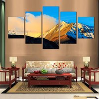 abstract photography - 5 piece wall painting HD Large Mountain peaks photography decoration Landscape No Framed printed on canvas No Frame