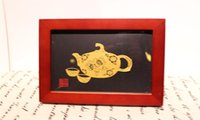 paper money - China yu county paper cut art implication smooth sailing the tea ceremony life symbolizes peace family bedroom furnishing articles the