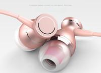 Metal Bass In-Ear Cell Phone Écouteurs Contrôle de fil avec microphone Casque Pour Apple et Android Système Téléphone portable