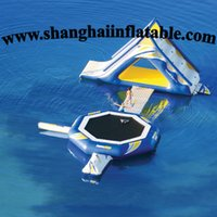 inflatable games inflatable bouncer - water sports game inflatable slide and bouncer combo on water