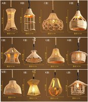 Wholesale 2016 Hotsale Pendant Lamps Indoor Lighting ROPE STRING Pendant Lights Fit Cafe Coffee Room Dining Room difference style Pendant Lights