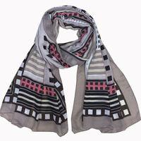 australian fashion designers - 2016 Hot selling australian designer delicate geometric printing border women scarf six colors available pc