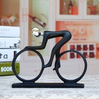 bicycle sculpture - Resin Minimalist Modern Creative Bicycle Exercise Cycling People Abstract Art Sculpture Figures Decorations