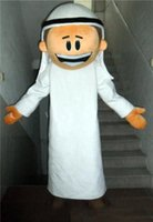 arab men wear - 100 positive feedback an Arab man mascot costume with white suit for adult to wear