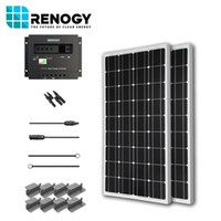 Wholesale Solar Panel Watt Starter Kit V RV Boat W Watts Mono Off Grid System
