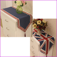 Wholesale cm US UK American British National Flag Dining Table Runner Cover Home Decor Table Cloth Textile