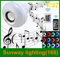 bulbs and lighting - E27 LED Bulbs Wireless Bluetooth W LED Speaker Bulb RGBW Music Play Lighting mobile control and Keys Remote Control enjoy green life