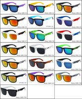 Wholesale 2016 new colors men and women sunglasses fashion Outdoor sports colorful sun glasses high quality PC hot sunglasses free