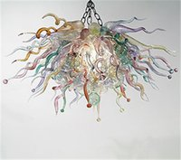art glass chandelier for sale - Hot Sale Energy Saving LED Lighting Fixture Hanging Chandelier for Wedding Art Glass Hotel Lobby Chandelier